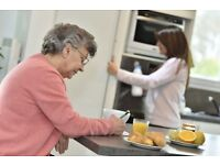 Free accommodation + food + salary. For live-in & part-time help in elderly lady's lovely home.