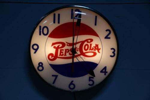 Pepsi Clock - Authentic - Lighted