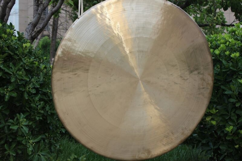 40inch/100cm White chau gong with mallet