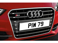 PIW 79 Old Dateless Personalised Number Plate Audi BMW Ford Golf Mercedes Kia Vauxhall