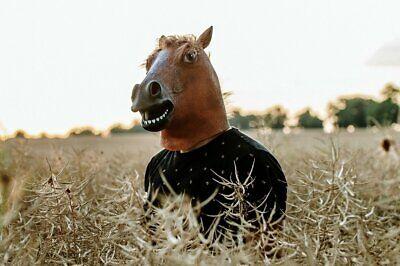 Cavalli Maschera Testa di Cavallo Lattice Maschera Gomma Maschera Top
