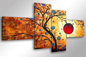 Quadro su tela quadri moderni xxl cm 200x100 albero magico for Quadri moderni leroy merlin