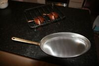 New in Box  Vintage Swiss Flambe / Warming pan, burner and Stand
