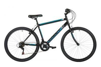 "Freespirit Domain Mens Rigid Mountain Hybrid Bike 26"" Wheel 18 Speed Shimano BLK"