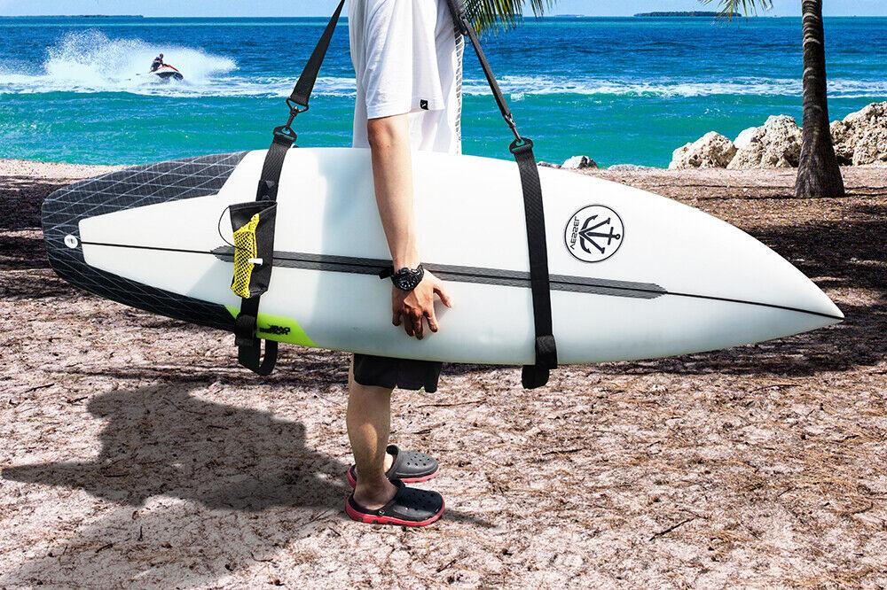 Adjustable Surfboard Shoulder Strap Paddle Board Stand Up Carry Sling Black