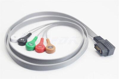 Philips Digitrak Xt Cable 989803157491compatible 5lead Snap Aha G5188s