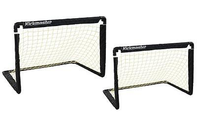Kickmaster One on One Folding Football Training Soccer Skill Goal Set Black