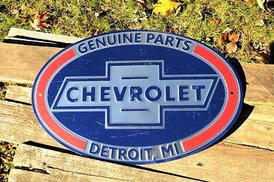 Chevrolet Genuine Parts Tin Metal Sign - Chevy - Trucks - GM - Dealer - Bowtie Genuine Chevy Parts