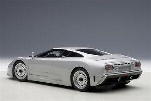 1-18-AUTOART-BUGATTI-EB110-GT-1991-ARGENTO-kostenlose-Vetrina-in-aggiunta