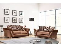 High End Chunky 3 and 2 Brown Beige Sofa Set - need to go quick!
