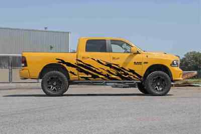 (Trucks body side graphics vinyl decal MT mud splash Set of 2pcs PAIR for both )