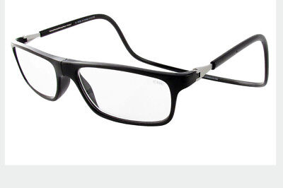 Black Executive Snap (CliC BIG LENS EXECUTIVE Reading Glasses; Magnetic SNAP! | BLACK | 1.25 to)