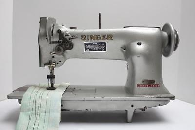Singer 112w115 Two 2 Needle Feed 58 Gauge Industrial Sewing Machine Head Only
