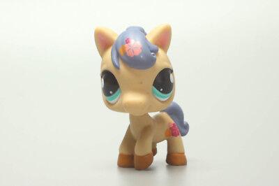 Littlest Pet Ship Flowers Brown Horse Pony No.1621 LPS Vintage RARE