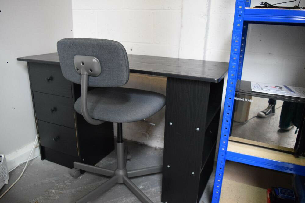 Small Desk Black And Office Chair Dark Grey 60 Collection Only From Throckley In Newcastle Tyne And Wear Gumtree