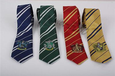 Harry Potter Gryffindor Slytherin Hufflepuff Necktie Silk Tie With Logo Cosplay