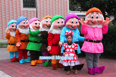 Seven Dwarf Mascot Costume of Snow White Halloween Party Character Fancy - Seven Dwarf Costumes Halloween