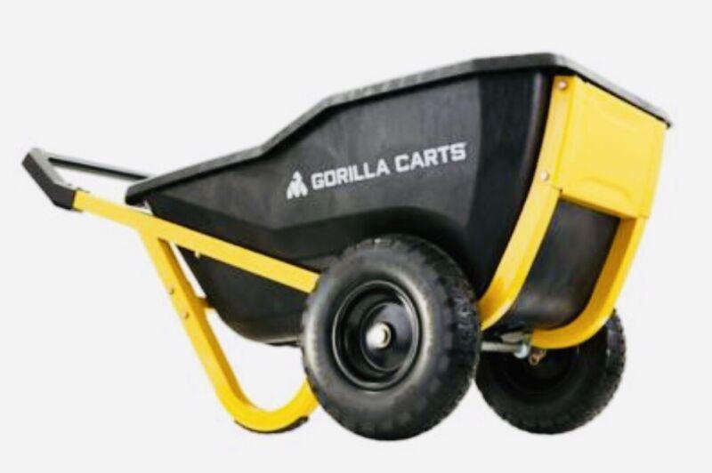Brand New In Box. Gorilla Carts Heavy-Duty Yard Outdoor Dumping Cart WheelBarrow