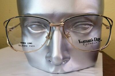 Green / gold Women Day eyewear Eyeglass Frames Vintage 90s NOS