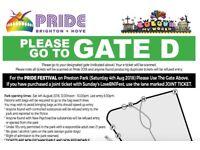 Brighton Pride TICKETS Britney Spears