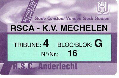 Ticket: Anderlecht - Mechelen KV(FC Malines)Jupiler League Business Seats(00-01)