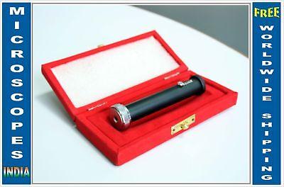 All Metal Gemology Prism Direct Vision Gem Testing Spectroscope W Slit In Case