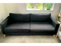 I can deliver - IKEA Karlstad 3 seater Sofa Bed in black colour