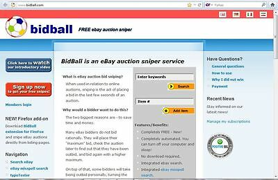 FREE eBay auction bid sniper buying expert snipe save time and $ on deals