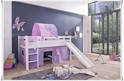 Vorhang für Kinderbett Spielbett Hochbett Etagenbett Cinderella