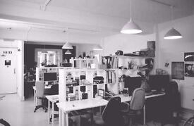 Desk Spaces available @ Creative Blocks, Kingsland Road, E84DG 195.00 all inc.