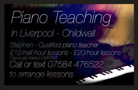 Piano tuition in Liverpool - Lessons for beginner to advanced