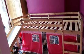Cabin slide bed