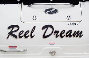Boat lettering and decals competitives prices