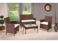 Garden Furniture + Cushions + Glass Table - Brand New