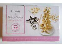 Cookie Biscuit Xmas Tree Tower - Boxed