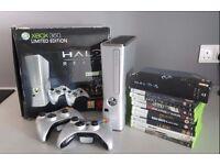 Xbox 360 - LIMITED EDITION - 250GB Halo Reach edition + 10 games