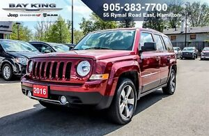 2016 Jeep Patriot SPORT, SUNROOF, BLUETOOTH, A/C, HTD SEAT