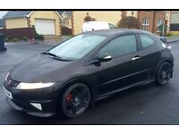 Honda civic, Black, Type r, GT spec, FN2, 2008
