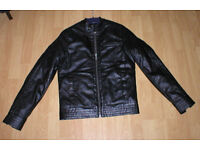ASOS A BRAND NEW TRENDY VERY NICE LOOKING AND STYLISH MANS FAUX LETHER JACKET! NEVER BEEN WORN!