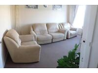 Reclining Electric Three piece suite.