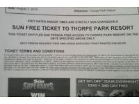 Thorpe park tickets x 4