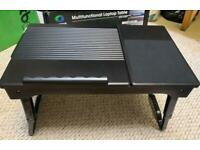 Multifunctional laptop table with usb & light.
