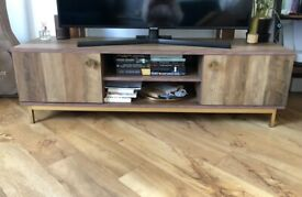 TV Stand with doors and shelves