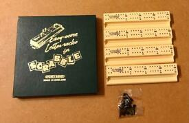 Vintage Scrabble Easy Score Letter Racks & 16 Pegs Complete Boxed Spears Games