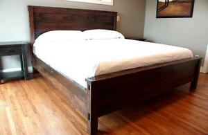 Salvaged Solid Wood Bed Frame $2095 & more. By LIKEN Woodworks