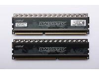 Ballistix Tactical Tracer BLT4G3D1608DT2TXOB 8GB (2 x 4GB) DDR3 1600MHz with blue leds