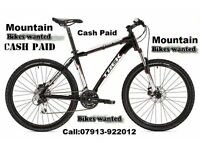 Wanted Mountain Bikes Only - Specialized-Giant-Trek-Scott-Cannondale-Cube-Carrera-Kona-GT