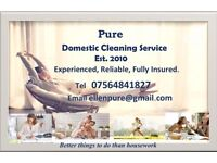 Pure - Domestic Cleaning Service. For all your housework needs when you've better things to do.