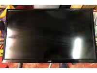 32'' tv Freeview DVD black flatscreen