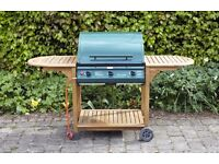 3 Burner Gas BBQ with Hardwood Roble Frame